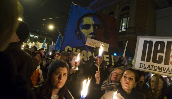 FORVENTNINGER: En hel verden hadde store forventninger til hva Obama skulle utrette. Foto: Håkon Eikesdal / Dagbladet