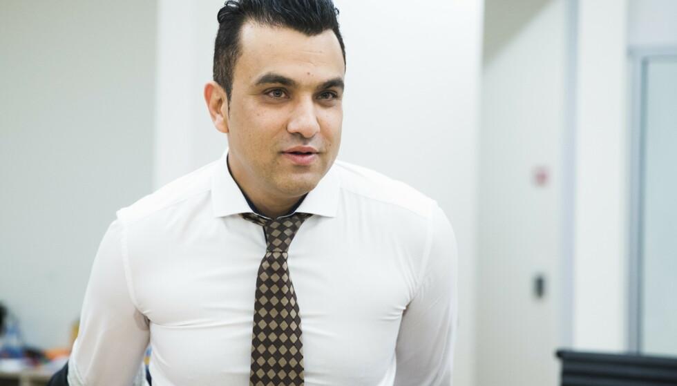 SVERTEKAMPANJE: Advokat Javeed Shah, som representerer den spionanklagede imamen, sier klienten mener seg utsatt for en svertekampanje. Foto: Berit Roald / NTB