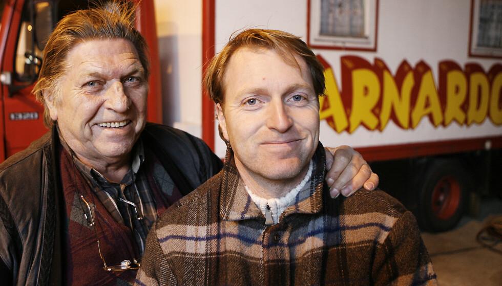 FAR OG SØNN: Sirkuskongen Arild Arnardo og sønnen Are Otto Arnardo. Foto: Erling Hægeland/Dagbladet