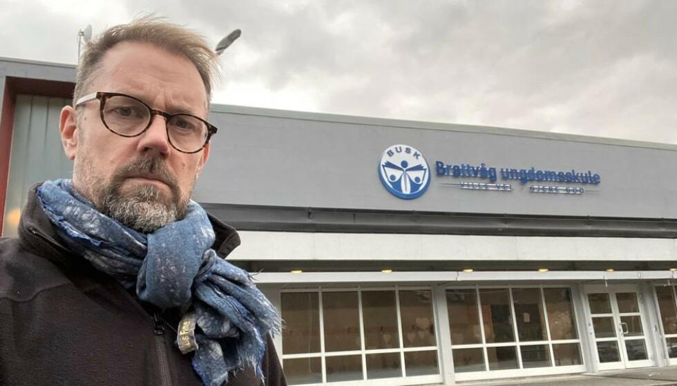 GIKK NED I LØNN: Mens toppene gikk opp i lønn, gikk lærerne ned. Det reagerer tillitsvalgt Christian Holdstad Lilleng på. Foto: Privat