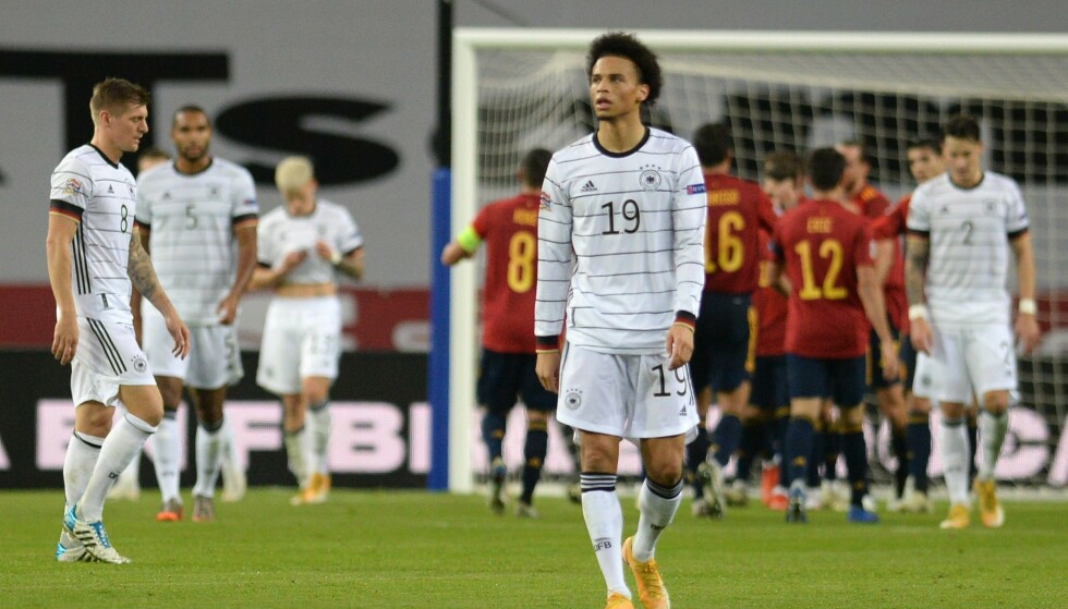STJERNESMELL: Tyskland gikk på et pinlig nederlag mot et Spania i storform. Foto: CRISTINA QUICLER / AFP / NTB