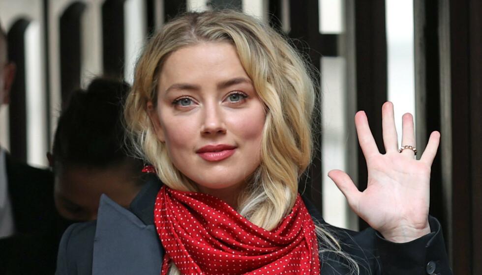 I RETTEN: Amber Heard, her fra retten i London, hevder at eksmannen var voldelig mot henne. Foto: Yui Mok/NTB