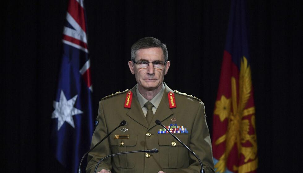 Australias forsvarssjef Angus Campbell la torsdag fram en rystende rapport om australske soldaters handlinger i Afghanistan. Foto: Mick Tsikas / pool via AP / NTB