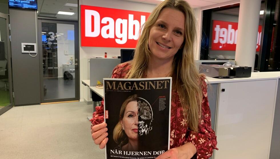 PRISDRYSS: Journalist Trude Lorentzen er glad historien til Jannicke har blitt verdsatt både i Norge og internasjonalt. Foto: Øystein Sæthre