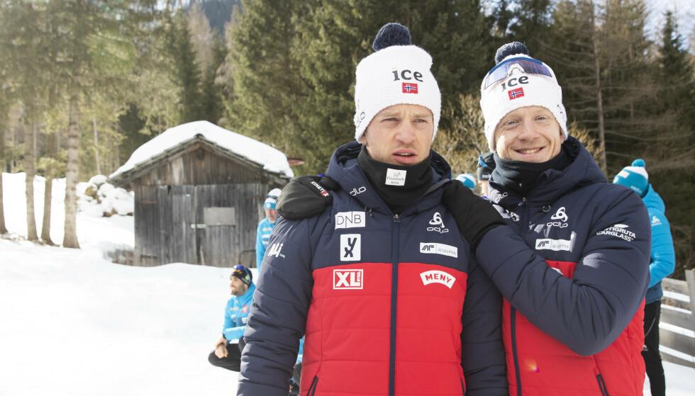 EKSTREM SESONG: Brødrene Bø er vant til å være mye sammen. Denne vinteren kommer de til å være kontinuerlig på reise i et snaut halvår. Foto: Berit Roald / NTB