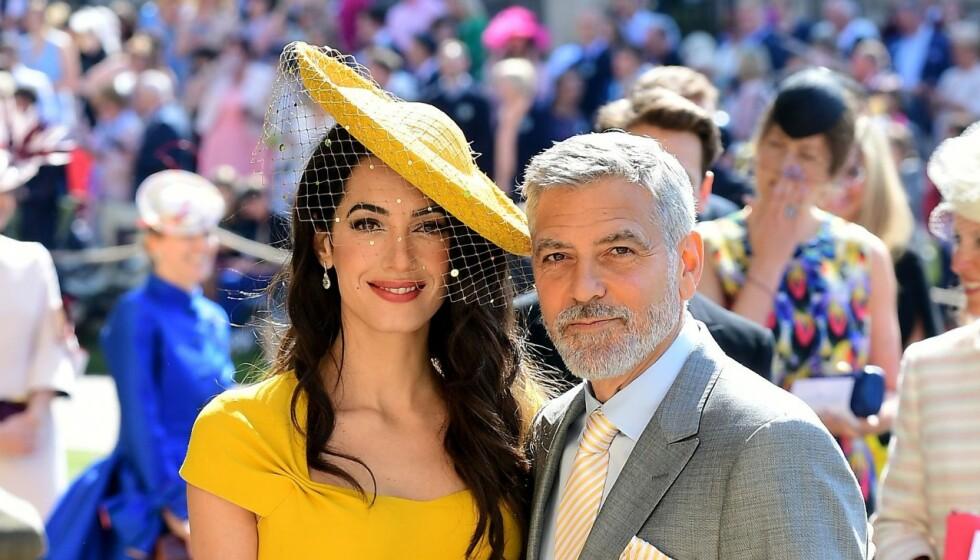 GODT GIFT: Amal og George Clooney giftet seg i 2013. Nå snakker han ut om forholdet til kona. Foto: REX /Shutterstock / NTB