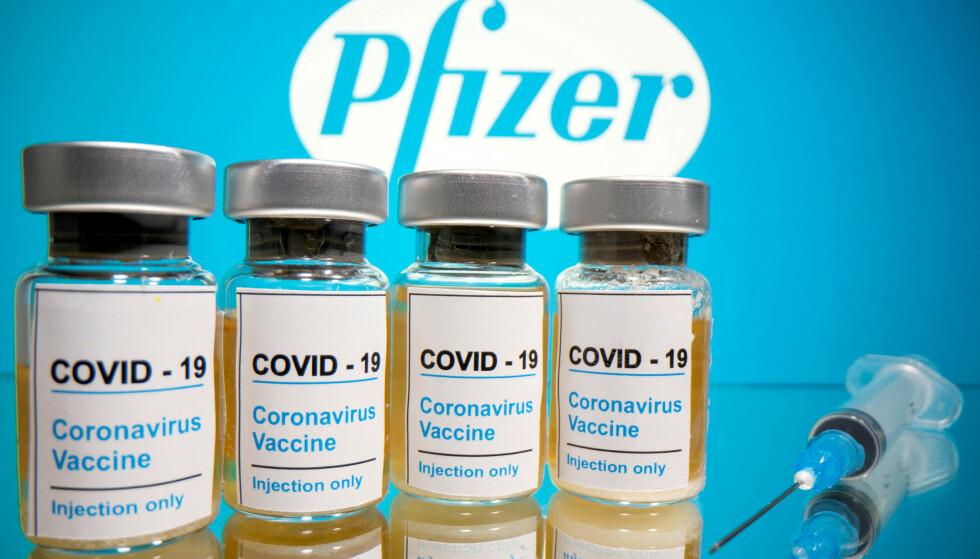 KLARE: Pfizer forteller at de er klare til å sende ut vaksiner bare timer etter en eventuell godkjenning. Foto: NTB