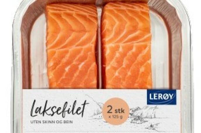 LAKS OG SOYA: Flere norske lakseprodusenter importerer soya fra Brasil, inkludert Lerøy. Foto: Lerøy