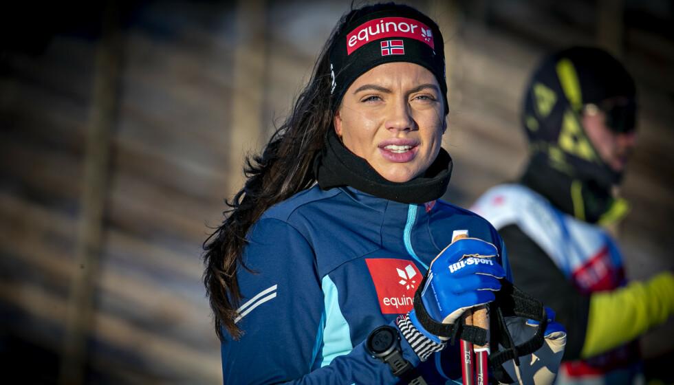 TØFF OPPKJØRING: Kristine Stavås Skistad forteller at det har vært en tung oppkjøring i vinter. Foto: Bjørn Langsem