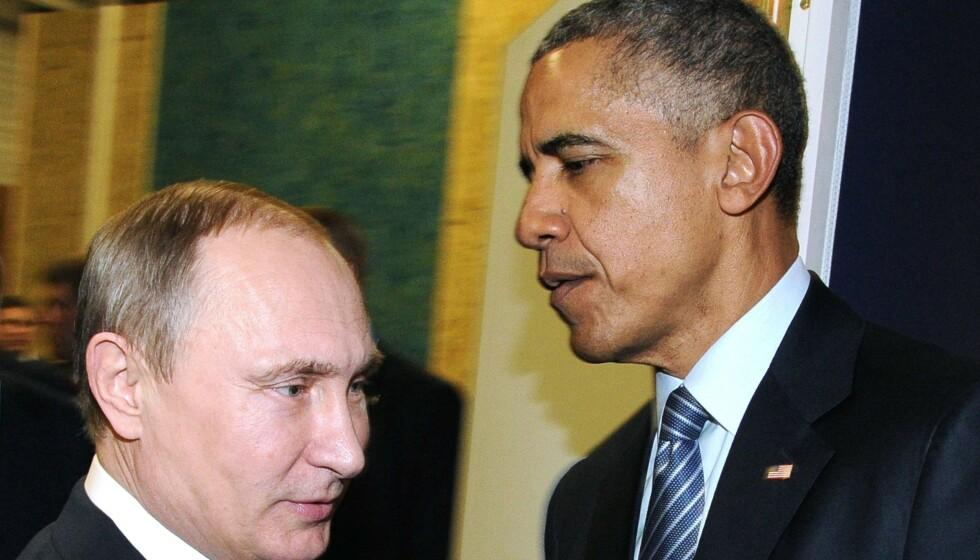 OBAMA: I sin nye bok åpner Barack Obama opp om hva han virkelige tenkte om flere av verdens tidligere og nåværende ledere. Obama omtaler Russlands president Vladimir Putin som en «avdelingssjef». Foto: AFP/NTB.