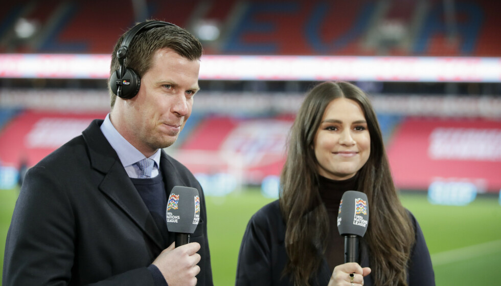 ROSER HELSEMYNDIGHETENE: Jesper Mathisen, her sammen med TV 2-reporter Ingrid Halstensen. Foto: Vidar Ruud / NTB