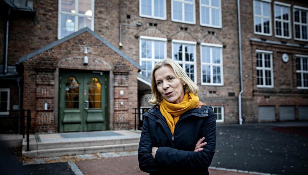 IKKE EN SEKT: - Derfor foretrekker vi å snakke om Oslos skoler fremfor Osloskolen, skriver innsenderne. Her er direktør i Utdanningsetaten i Oslo, Marte Gerhardsen, fotografert foran en skole i Oslo.l Foto: Nina Hansen / DAGBLADET