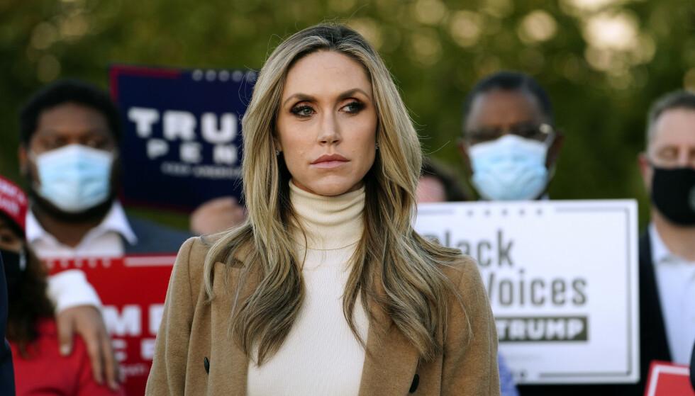 SENATOR-SVIGERDATTER: Lara Trump, svigerdattera til USAs president Donald Trump, skal overveie å stille til valg som senator i Nord-Carolina i 2022, ifølge flere amerikanske medier. Foto: AP Photo / NTB Scanpxi