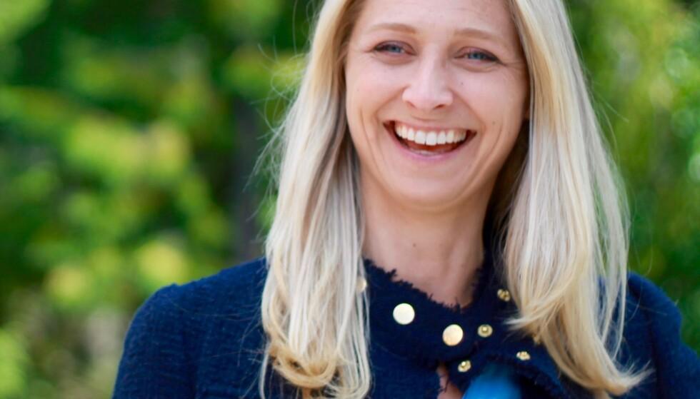GLA'SUKSESS: Ingrid Sanfelt Hansen er strålende fornøyd med suksessen til julesaften og lover å doble produksjonen neste år. Foto: Orkla