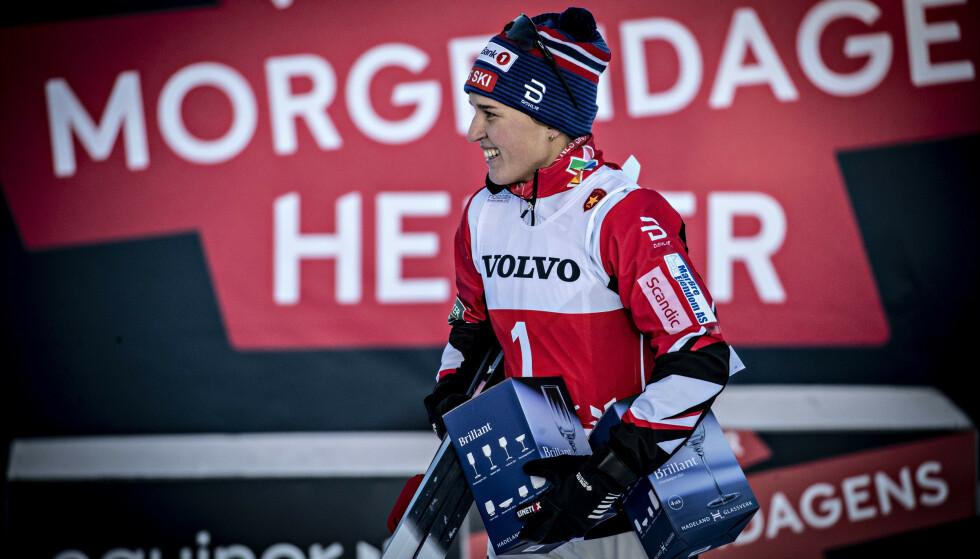 SPRINTSEIER: Lotta Udnes Weng vant kvinnenes sprint. Foto: Bjørn Langsem / Dagbladet