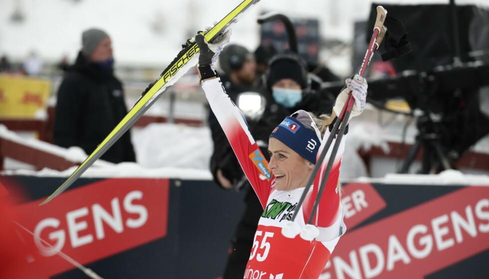 VANT: Therese Johaug var bunnsolid i den nasjonale sesongåpningen lørdag. Foto: Bjørn Langsem / Dagbladet