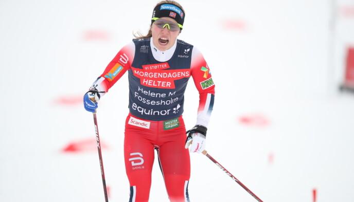 ANDREPLASS: Kometen Helene Marie Fossesholm. Foto: Bjørn Langsem / Dagbladet