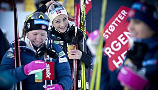 SAGT NEI: Therese Johaug ønsker ikke å gå den siste etappen for det norske kvinnelaget i stafett i VM i Obersdorf. Foto: Bjørn Langsem / Dagbladet