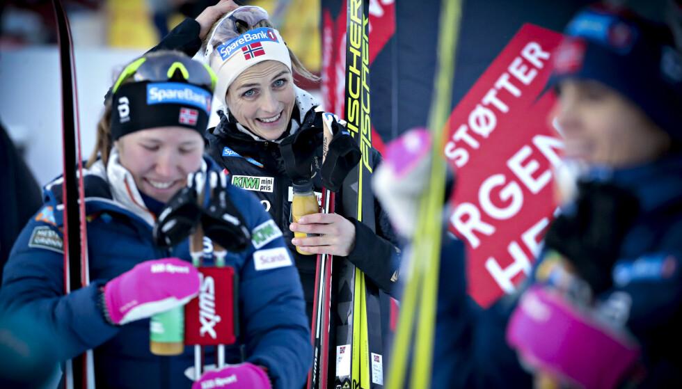I FORM: Therese Johaug viste nok en gang konkurrentene ryggen. Foto: Bjørn Langsem