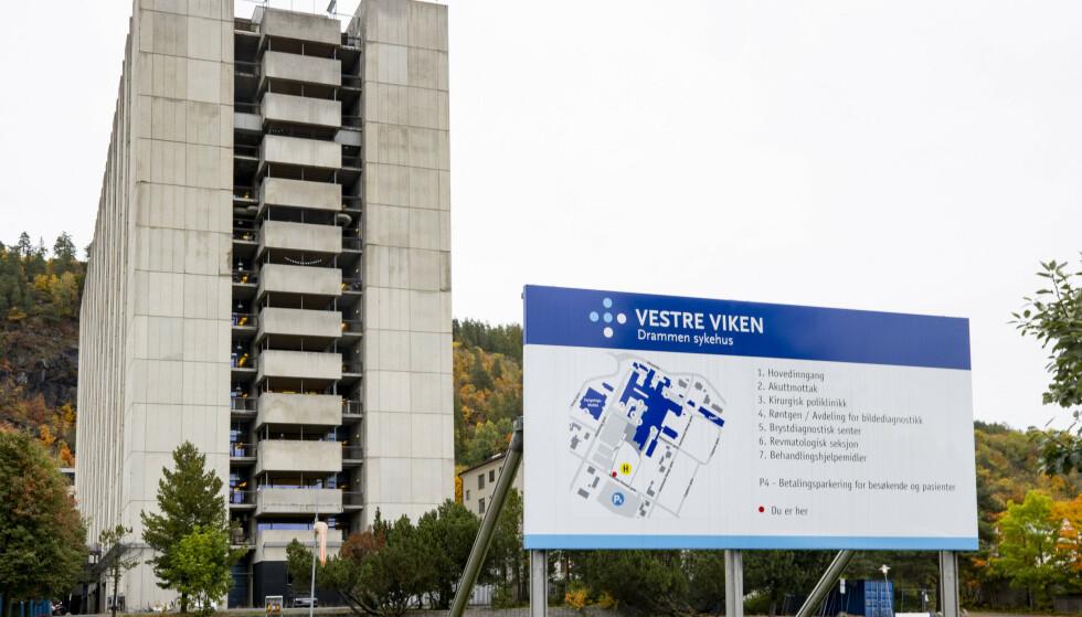 SETTER KRISESTAB: Drammen sykehus er satt i beredskap etter hendelsen i Kongsberg der en mann skal ha skutt med pil og bue, melder NRK. En person er pågrepet. Arkivfoto: Geir Olsen / NTB