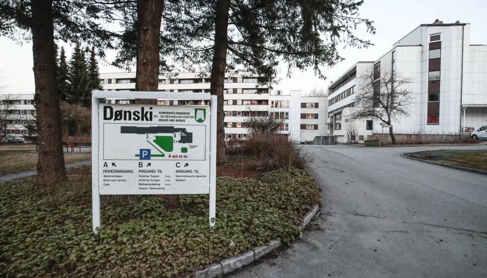 STENGER DØRENE: Dønski bo- og behandlingssenter i Bærum kommune. Norges bo- og behandlingssentre bærer preg av stengte dører for besøkende på grunn av koronaviruset. Foto: Lise Åserud / NTB