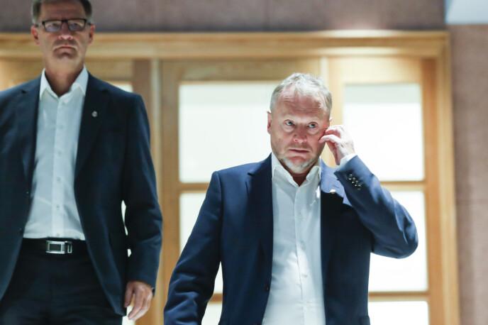 OPTIMIST: Byrådsleder Raymond Johansen tillater seg å være forsiktig optimist. Foto: Terje Bendiksby / NTB