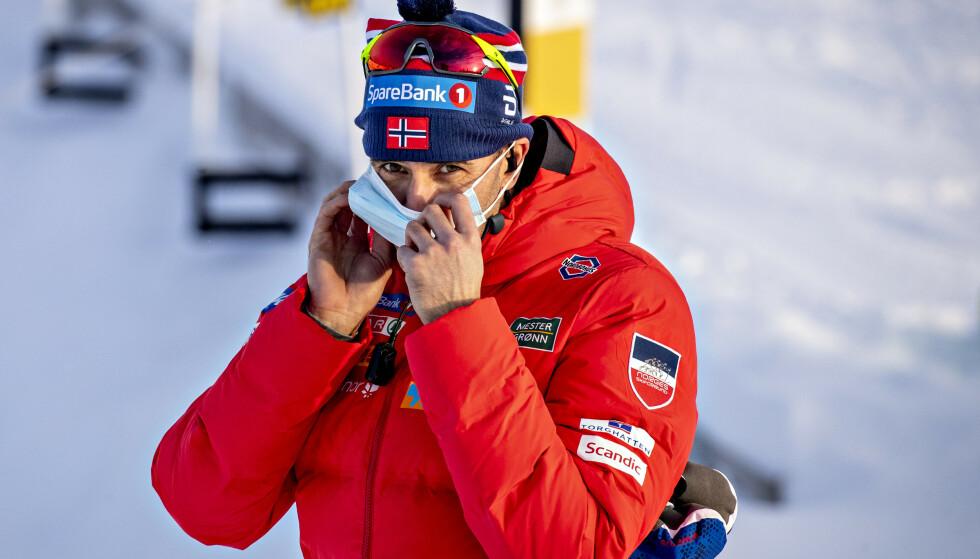 LANDSLAGSLEGE: Øystein Andersen på stadion under løpene på. Beitostølen. Foto: Bjørn Langsem / Dagbladet