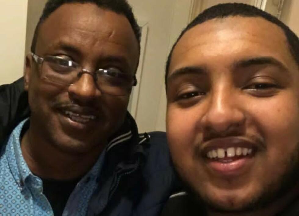 FRYKT:Drapsdømte Saad Jidre (t.v.) her sammen med sønnen Mustafa Hayd, frykter hva som kan skje, etter at flere cellekamerater ble hentet for å bli henrettet. Foto: Privat