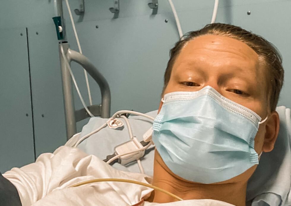 SYK: 30 år gamle Charlie Eriksson er hardt rammet av coronaviruset. Foto: Privat