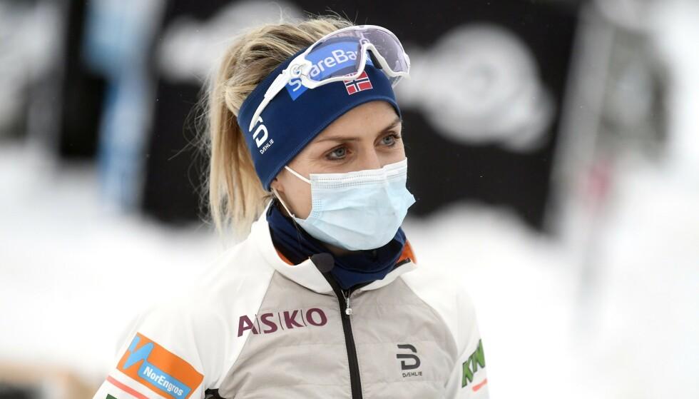 FORBEREDT PÅ DET VERSTE: Therese Johaug. Foto: Vesa Moilanen / NTB