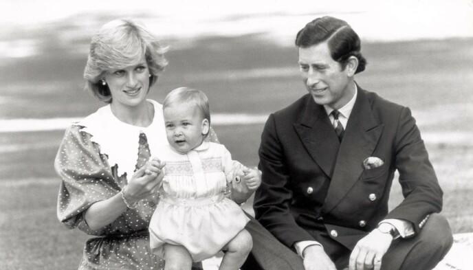 VAR MED: Prins William vises fram til pressen på Australia-turen i 1983. Foto: NTB