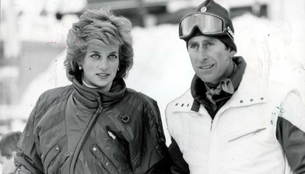SKIINTERESSERTE: Prinsen og prinsessen av Wales på skiferie ved en tidligere anledning enn da snøskredet skjedde. Foto: NTB