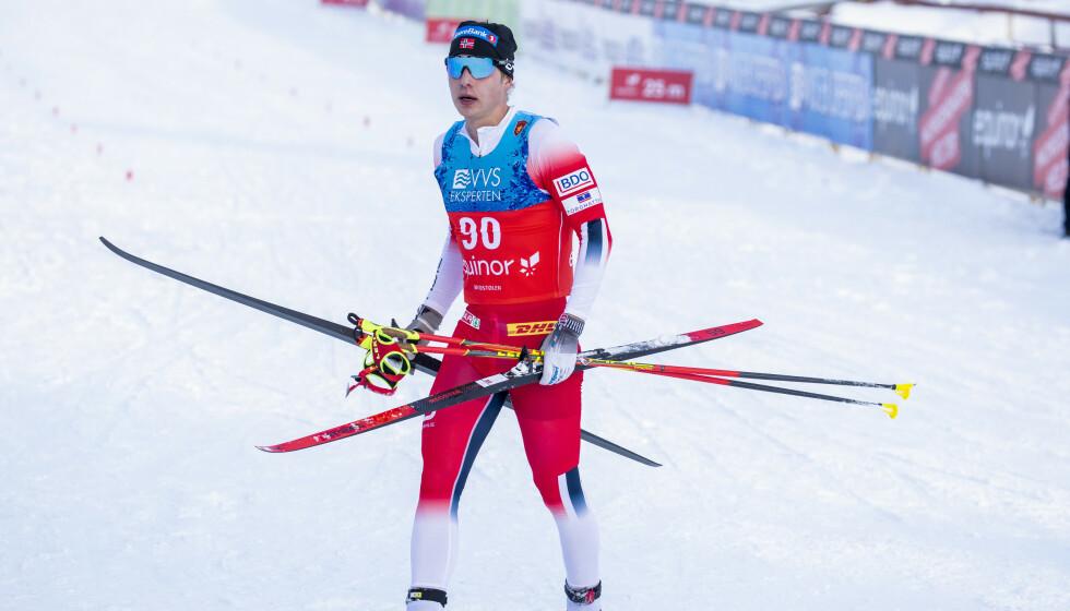SKUFFET: Simen Hegstad Krüger er lite fornøyd med sesongstarten. Foto: Terje Pedersen / NTB