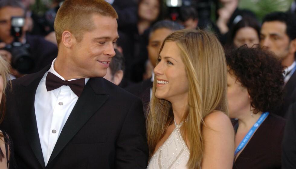 OVERBEVIST: Fansen håper iherdig på at Brad Pitt og Jennifer Aniston skal finne tilbake til hverandre, og et nytt bilde bidrar godt til spekulasjonene. Foto: Alan Davidson/REX/NTB