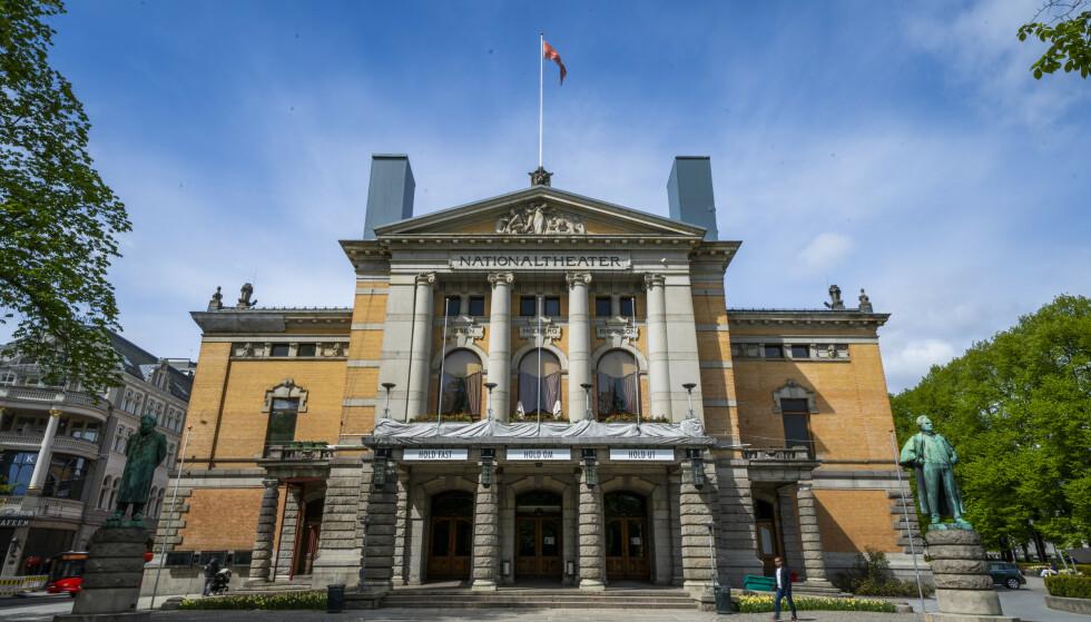 MÅ UT: Skuespillerne og administrasjonen må flytte ut av Nationaltheatret neste høst, når bygningen skal rehabiliteres. Men ingen vet hvor de skal ta veien. Foto: Håkon Mosvold Larsen / NTB Scanpix.