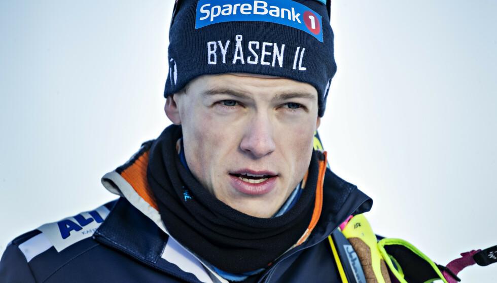 VAR FØRST: Johannes Høsflot Klæbo fortalte mandag at han ikke ville gå verdenscup ut året. Foto: Bjørn Langsem / Dagbladet