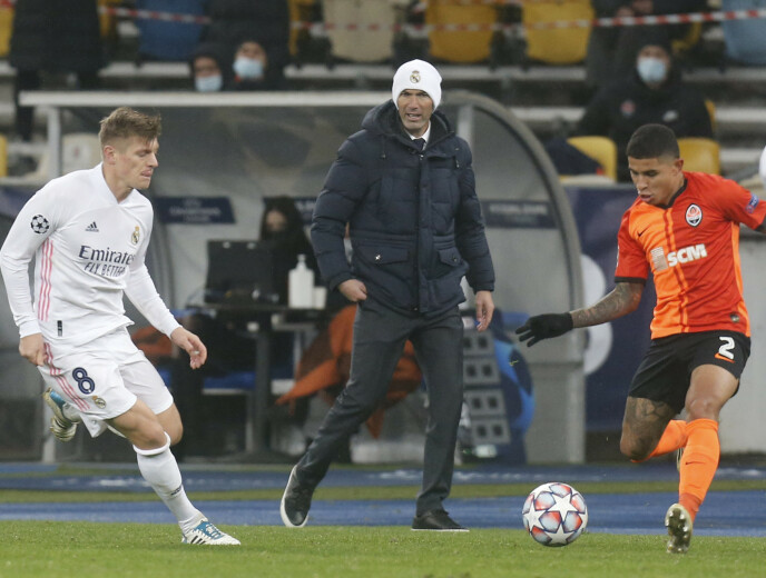BLYTUNGT: Zinédine Zidane og Real Madrid reiste fra Kiev med null poeng i kofferten. Foto: NTB