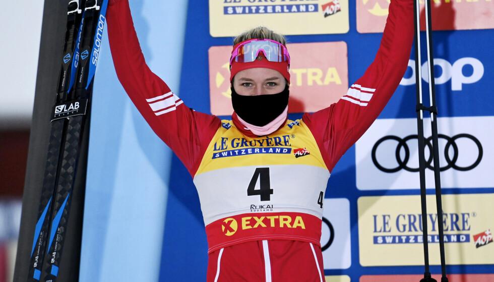 I TOPPEN: Tatjana Sorina leverte godt i verdenscupåpningen i Finland. Foto: NTB