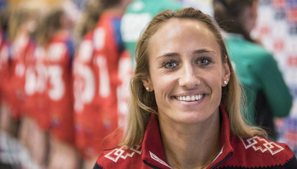 REAGERER: Camilla Herrem reagerer på det norske favorittstempelet. Foto: Ole Berg-Rusten / NTB