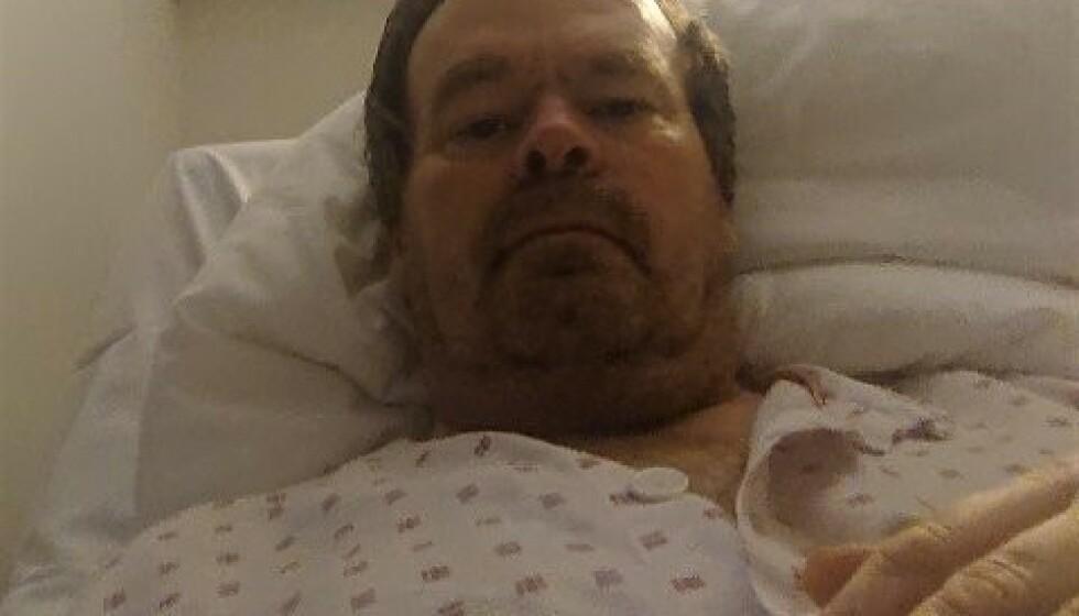OVERLEVDE: Ronnie Halvorsen Moe lå i respirator i nesten fem uker, og overlevde. Foto: Privat
