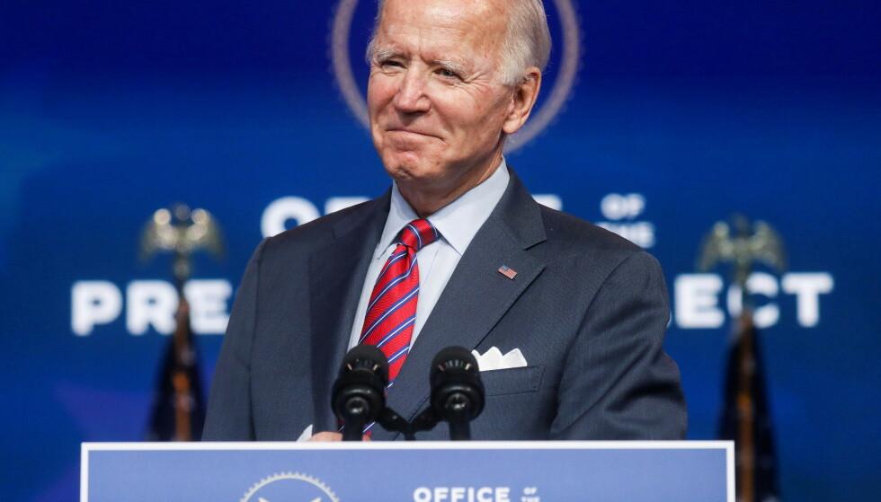 IKKE ANERKJENT: USAs påtroppende president, Joe Biden, blir foreløpig bare anerkjent av 27 republikanske kongressrepresentanter. Foto: REUTERS/Leah Millis