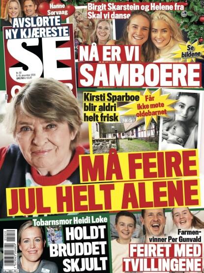 FORELSKET: Hanne Sørvaag avslører sin nye kjæreste i tirsdagens utgave av Se og Hør. Faksimile: Se og Hør