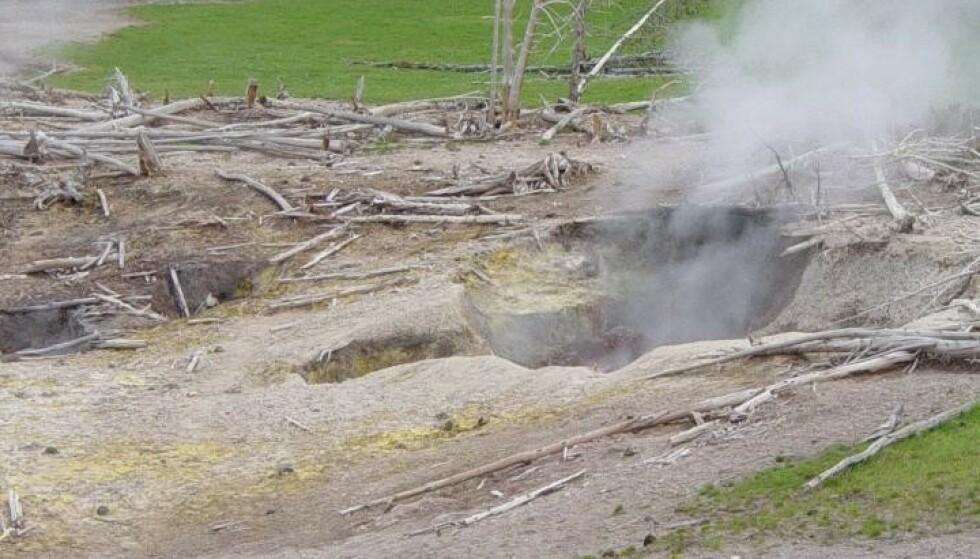 GIFTIG GASS: Mange fumaroler avgir giftig gass, og er ikke noe blivende sted for mennesker. Foto: maveric149 / Wikimedia Commons