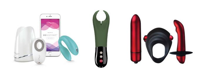 TIL BEGGE: We-vibe Sync, Manta og Red Temptations gavesettet kan virkelig piffe opp sexlivet.