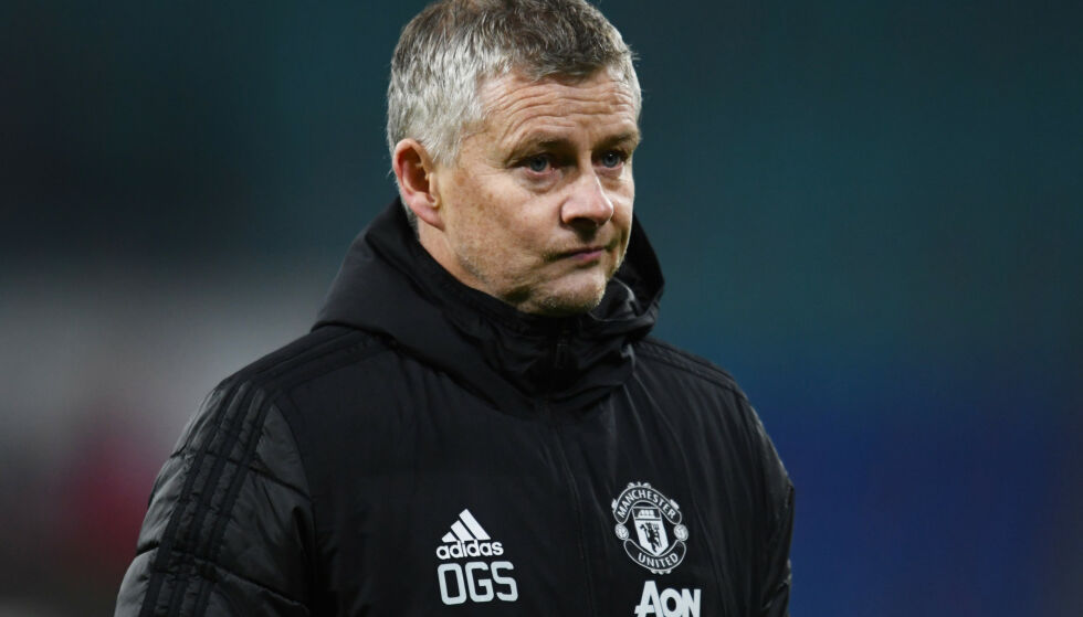 NEDTUR: Champions League-exiten var en av de største nedturene Ole Gunnar Solskjær har hatt som Manchester United-manager. Foto: Annegret Hilse/Reuters/NTB