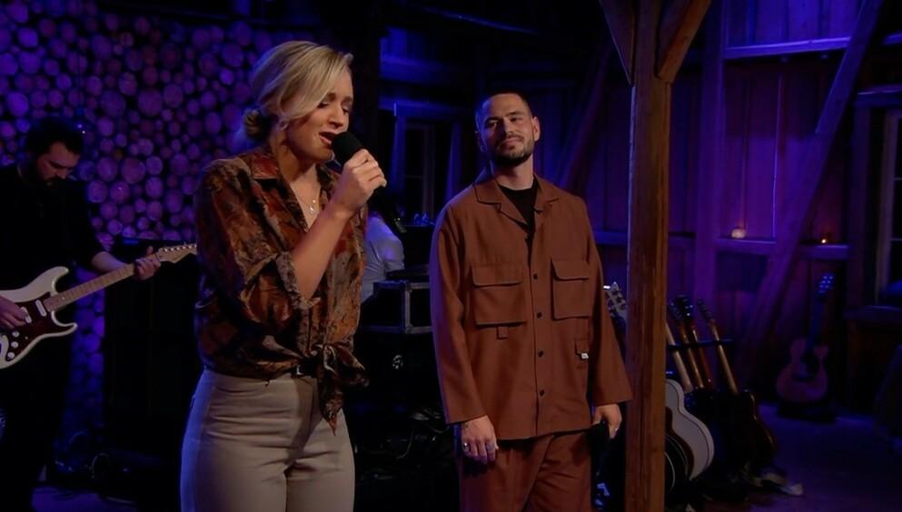 RADIOHIT: Frida Ånnevik og Chris Holsten synger sin hit «Hvis verden» i «Hver gang vi møtes - jubileum» i kveld. Alle foto: TV 2