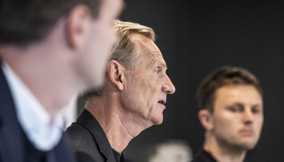 IKKE POPULÆRT: Styreformann i FC København, Bo Rygaard, og tidligere spiller og sportslig leder William Kvist. Foto: Olafur Steinar Gestsson / Ritzau Scanpix / NTB