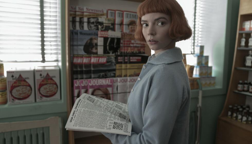 ENGASJERER STOR: Anya Taylor-Joy i Netflix-serien «The Queen's Gambit» høster lovord av Dagbladets anmelderkorps - men det er to andre tv-serier som får terningkast seks. Foto: NETFLIX