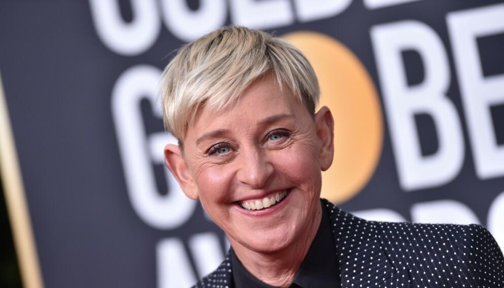 SMITTET: Ellen DeGeneres forteller at hun har fått corona. Foto: Shutterstock/NTB