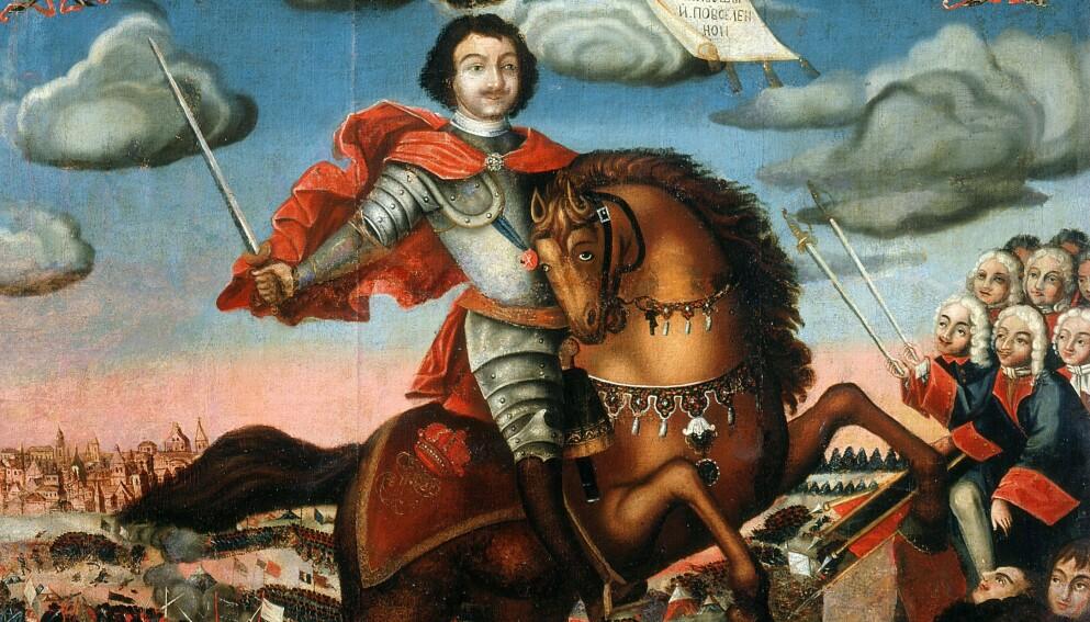 DEN STØRSTE: Peter den store er den største av alle Russlands tsarer. Foto: NTB / Alfredo Daglo Orti / Russlands historiske museum, Moskva
